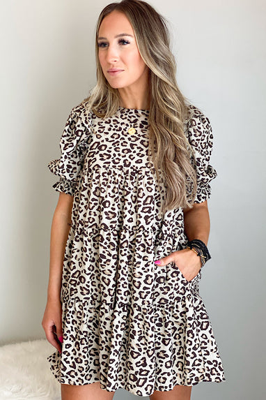 Leopard Report Dress