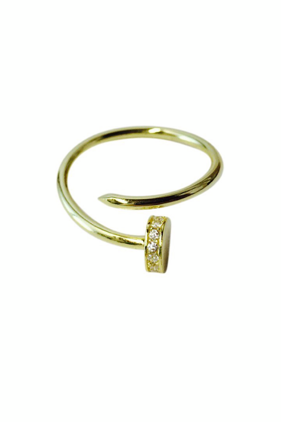 Curved Nail Ring in Gold or Silver