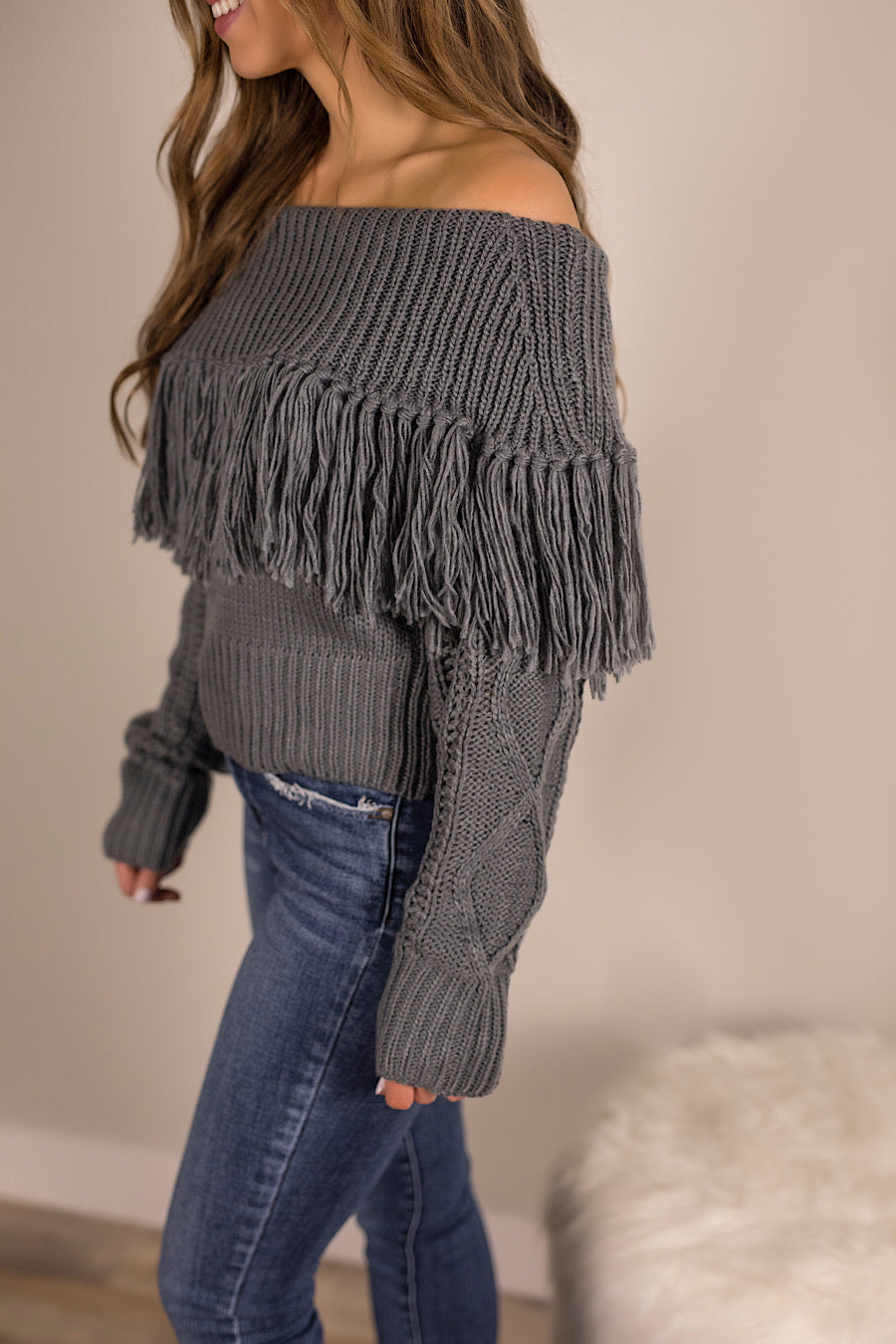 Fringe with Benefits Sweater
