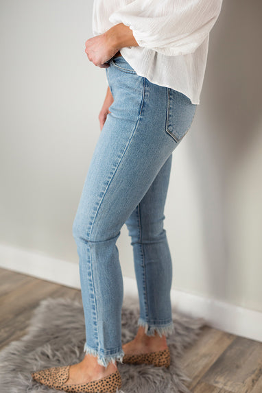 Gemma High Rise Relaxed Skinny Jeans