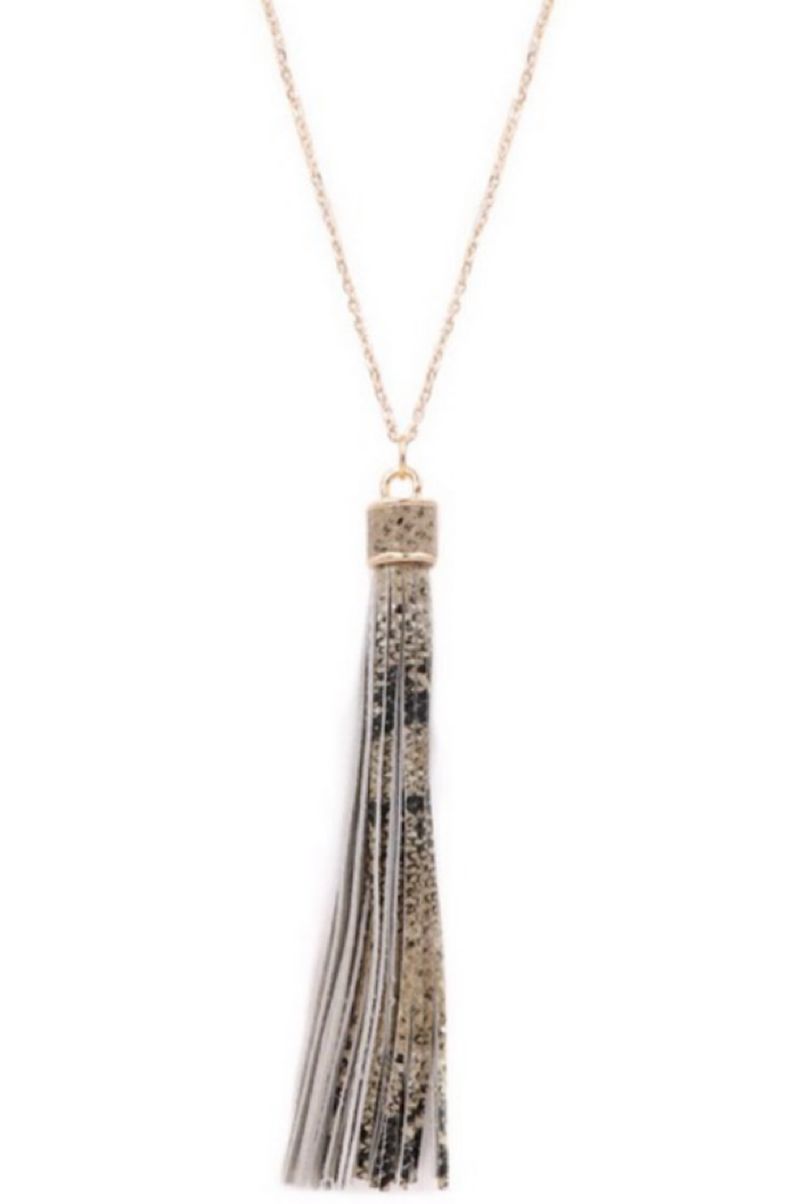 Snakeskin Leopard Tassel Necklace