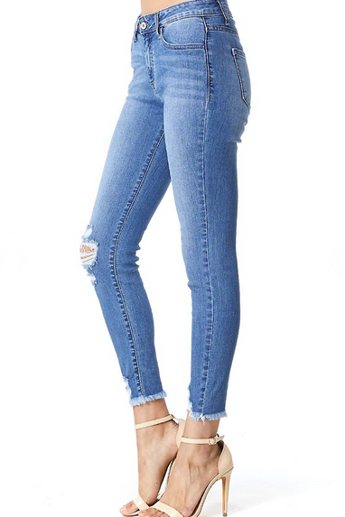 Oz Medium Wash Ankle Skinny Jeans