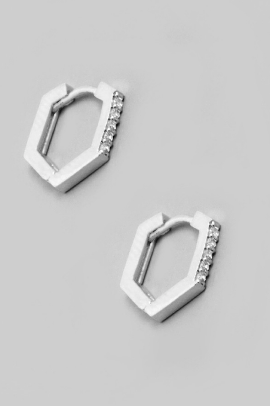 Mini Geo Hoop Huggie Earrings in Gold or Silver