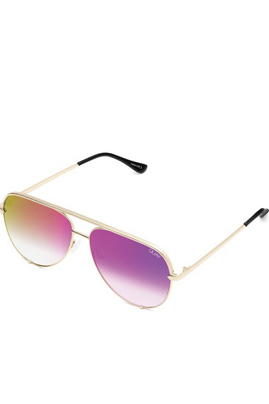 High Key Sunglasses in Gold/Pink