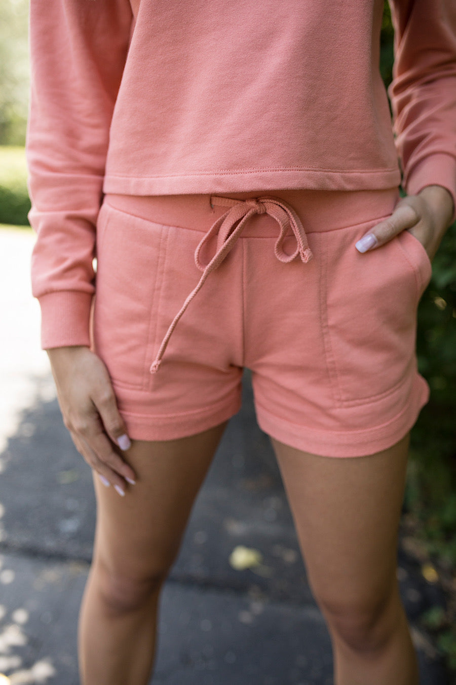 Alternative French Terry Lounge Short in Coral