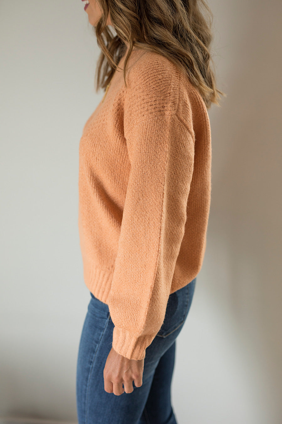 All in Favor Coral Sweater