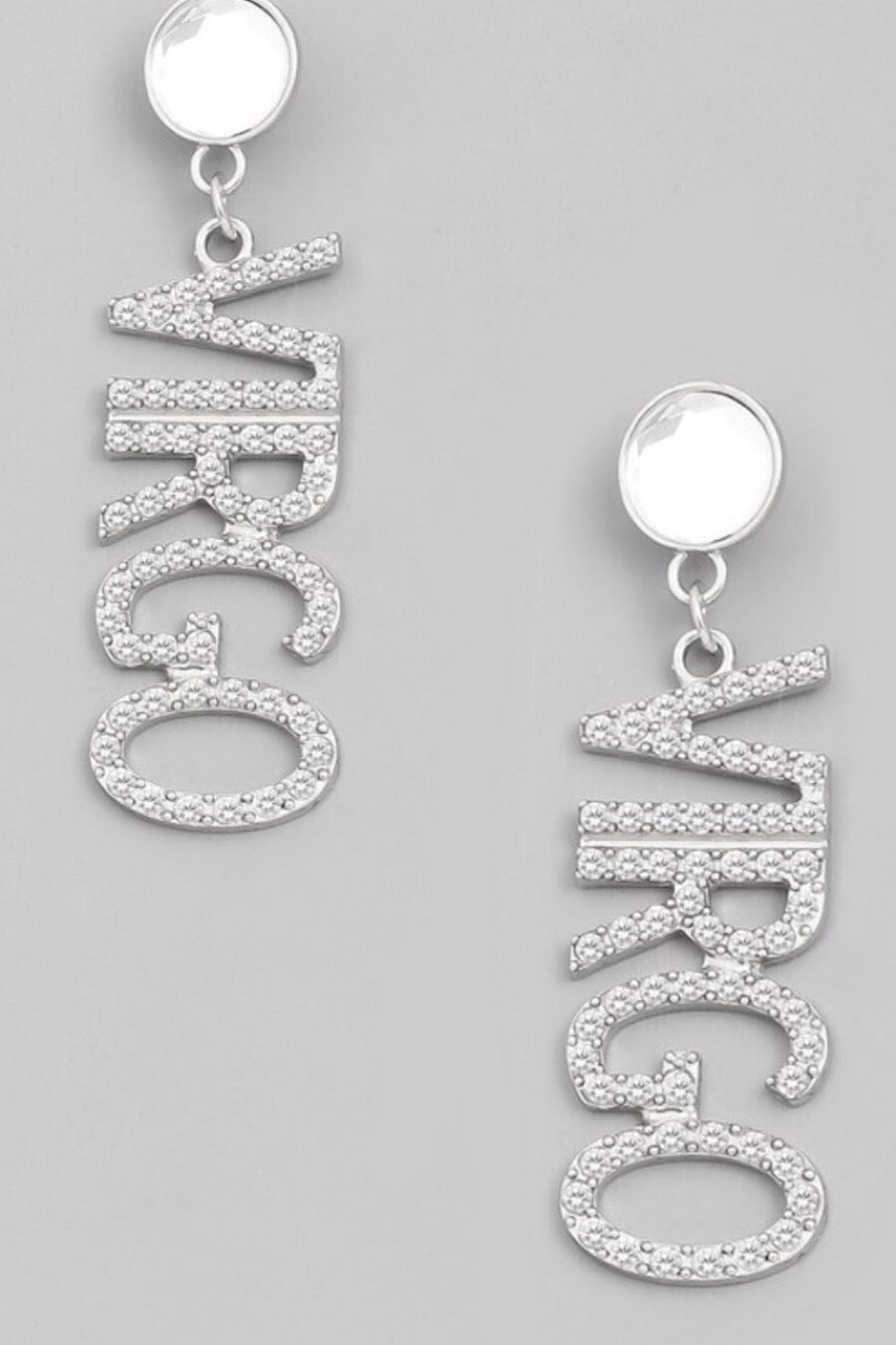 Virgo Print Drop Earrings