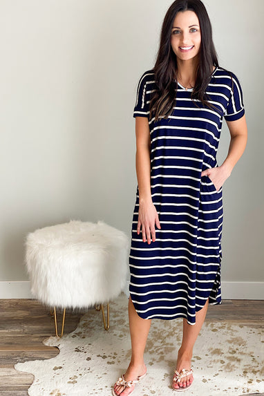 It's a Thin Line Midi Dress