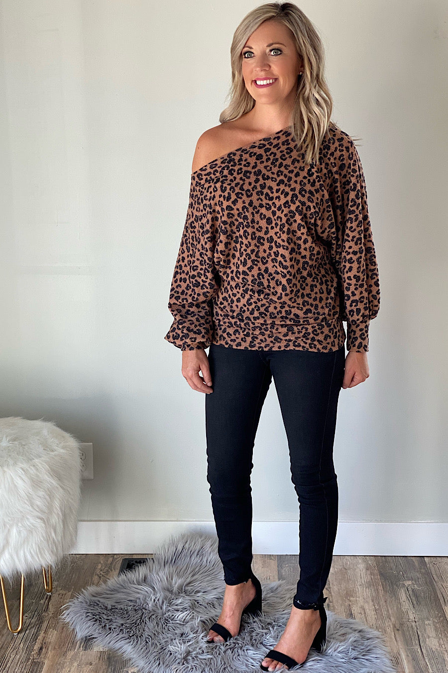 Rock the Boatneck Leopard Top