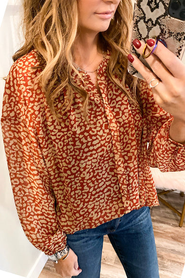 Prints Charming Blouse in Rust