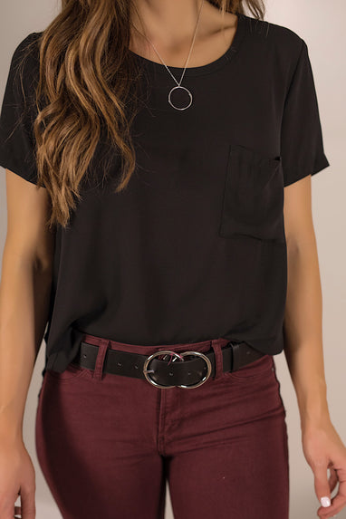 Breezy Side Pocket Blouse