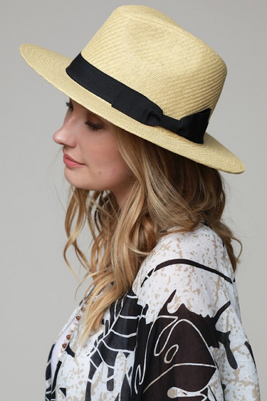 Fedora Straw Hat in Natural