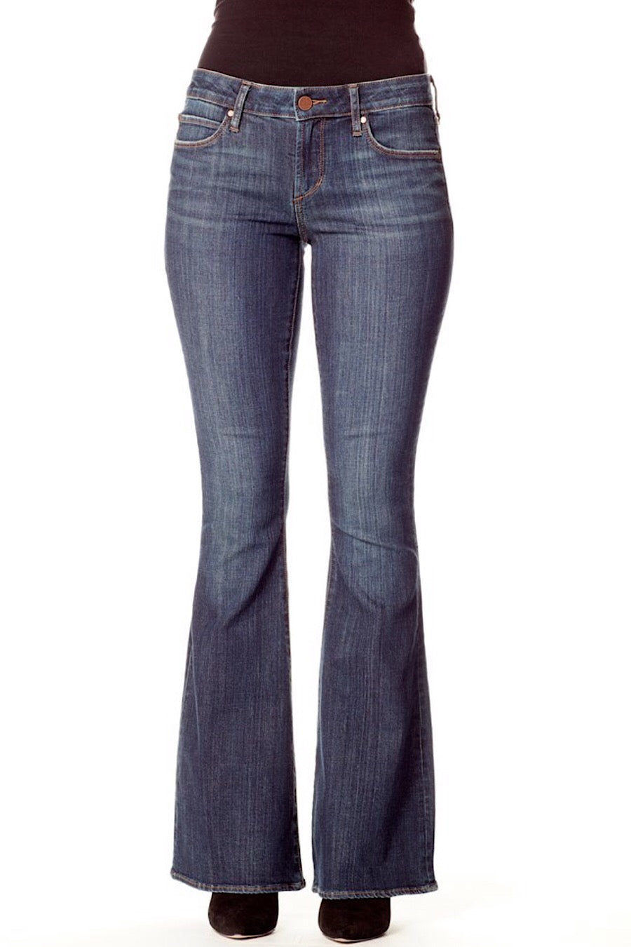 Faith Flare Jeans in Sinister