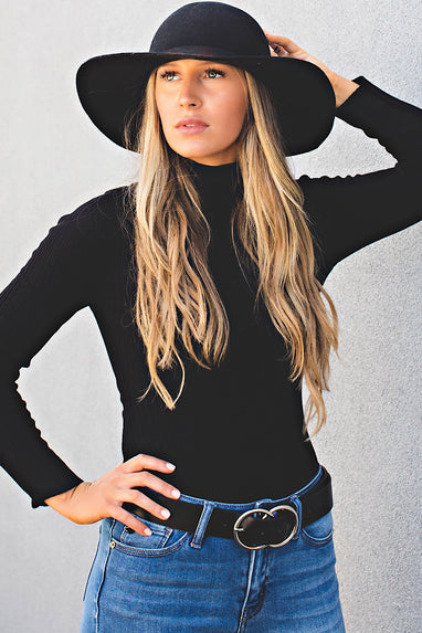 Rib Knit Turtleneck Bodysuit