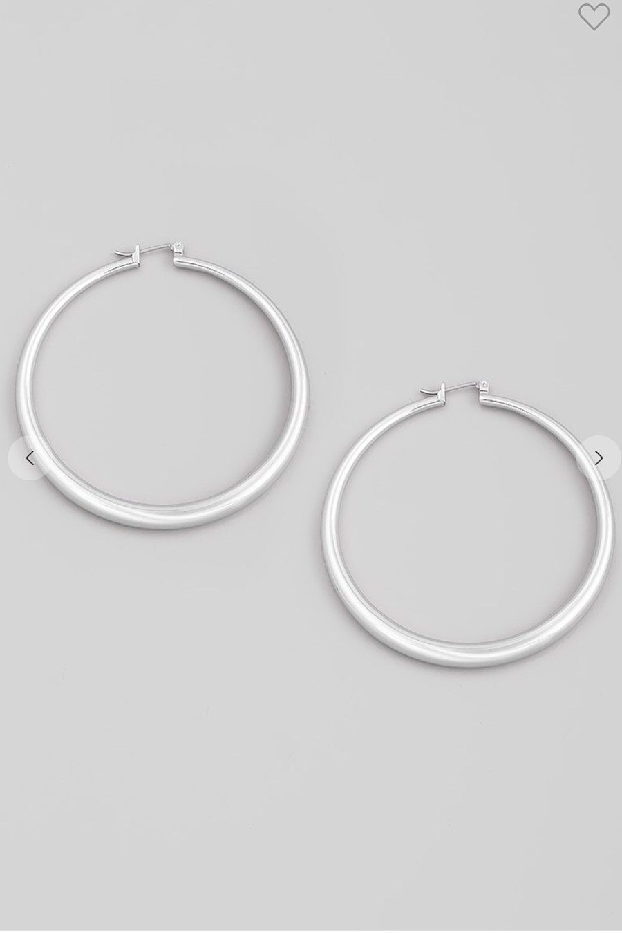 Large 60MM Hoop Earrings in Gold or Silver