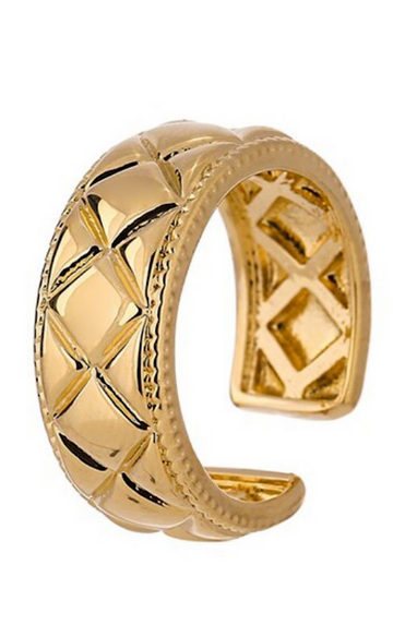 Gold Band Cuff Ring