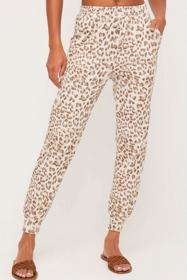 On the Prowl Animal Print Joggers