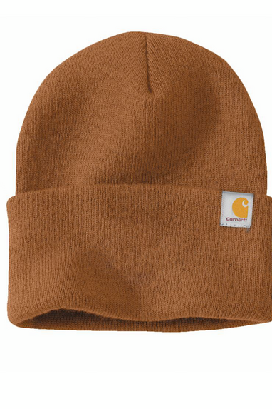 Carhartt Brand Beanies in Carhartt Brown & Black