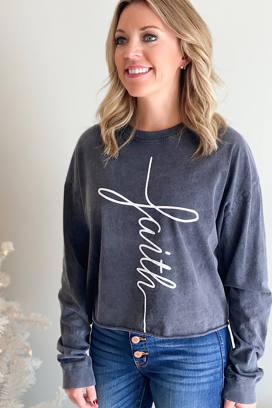 Faith Graphic Pullover Top
