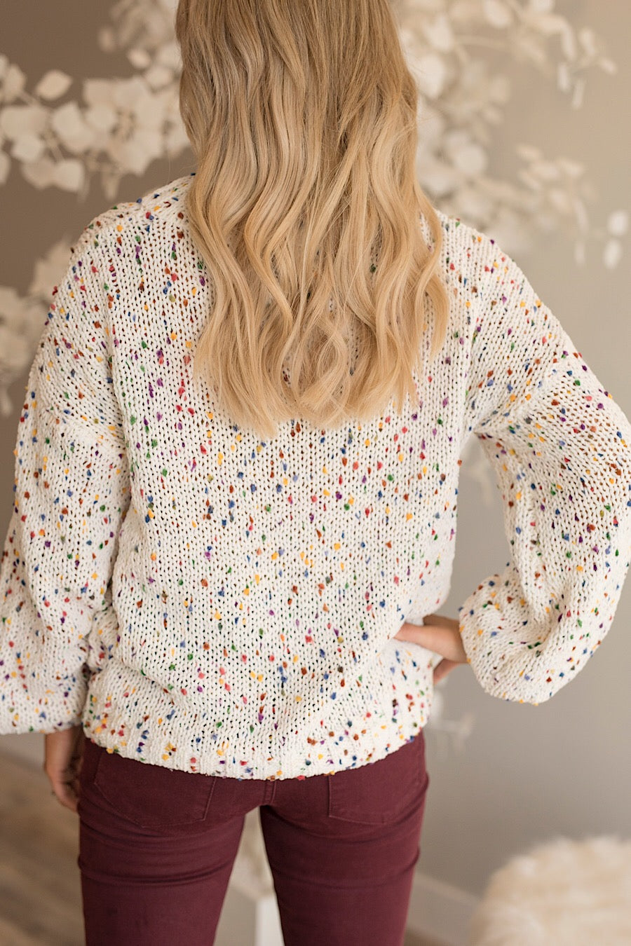 Confetti Sweater in Ivory