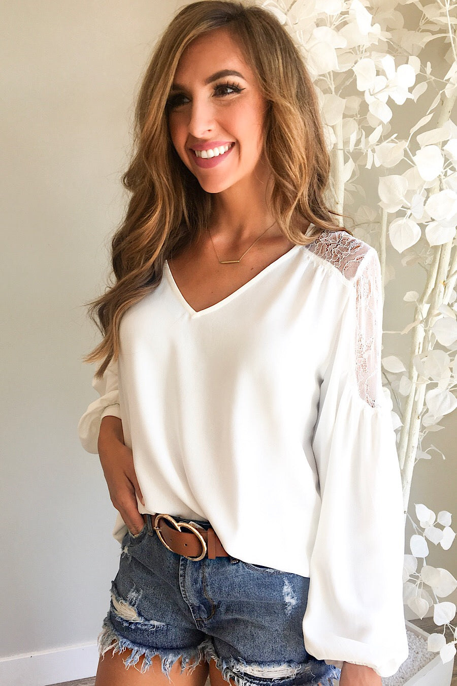 Lace Trim Blouse