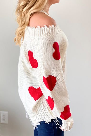 True Love Distressed Sweater
