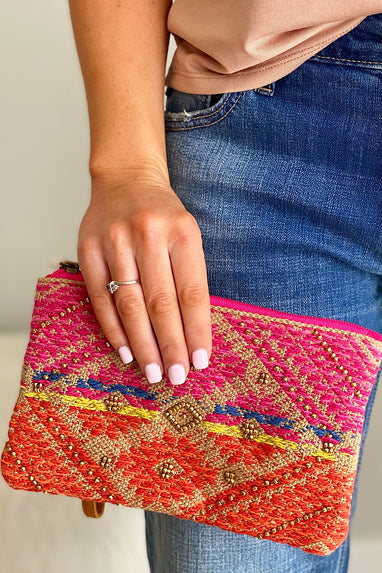 Beaded Handmade Pattern Clutch