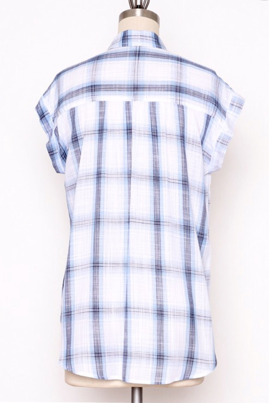 Johnny Rayon Plaid Top
