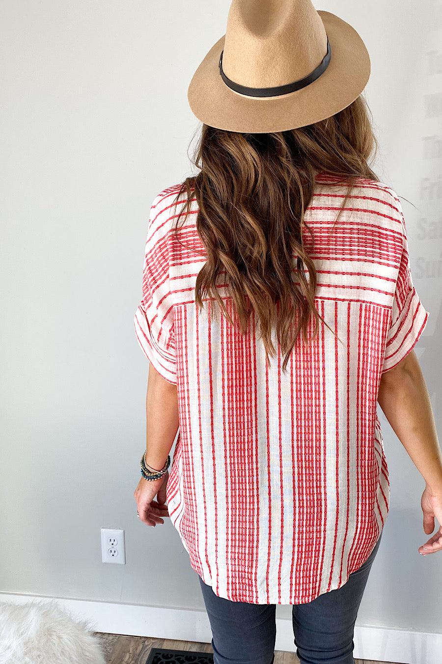 Jordan Textured Button Down Top