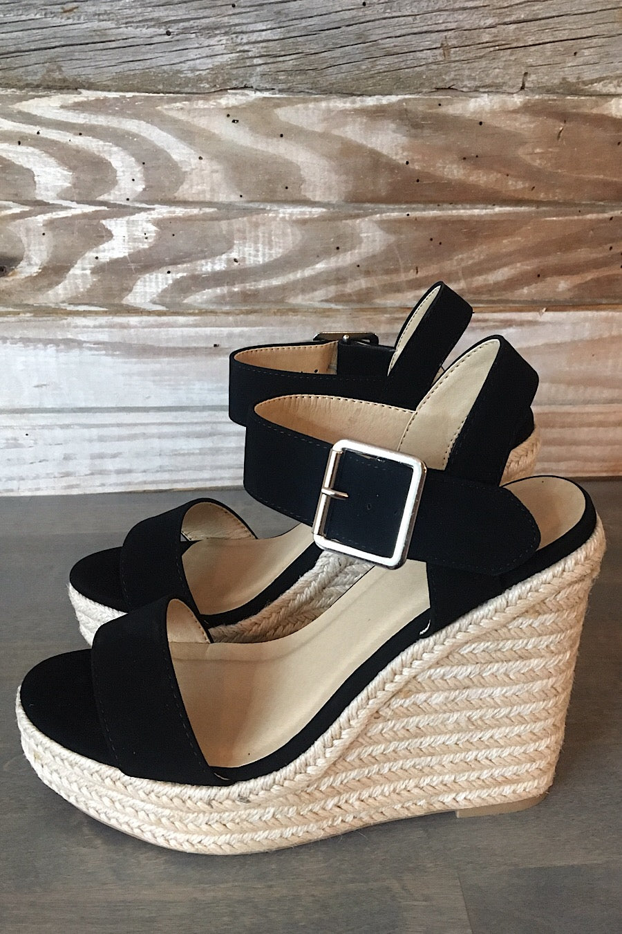 CCOCCI Burst Wedge Sandals in Black