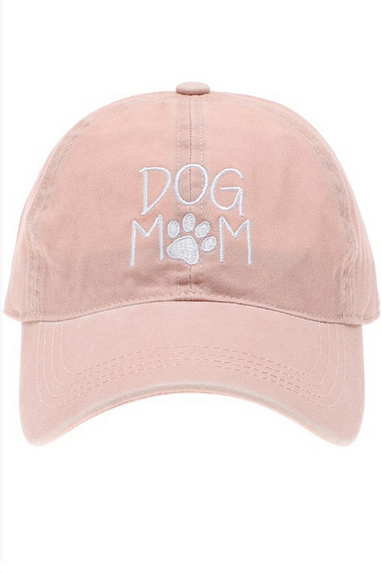 Dog Mom Cap in Pink
