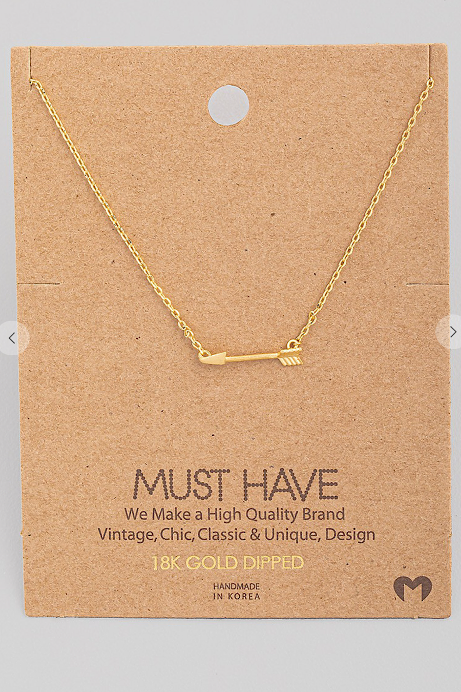 Arrow Necklace in Gold, Rose Gold or Silver