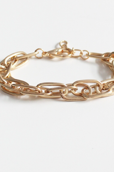 Chunky Chain Bracelet in Silver or Gold