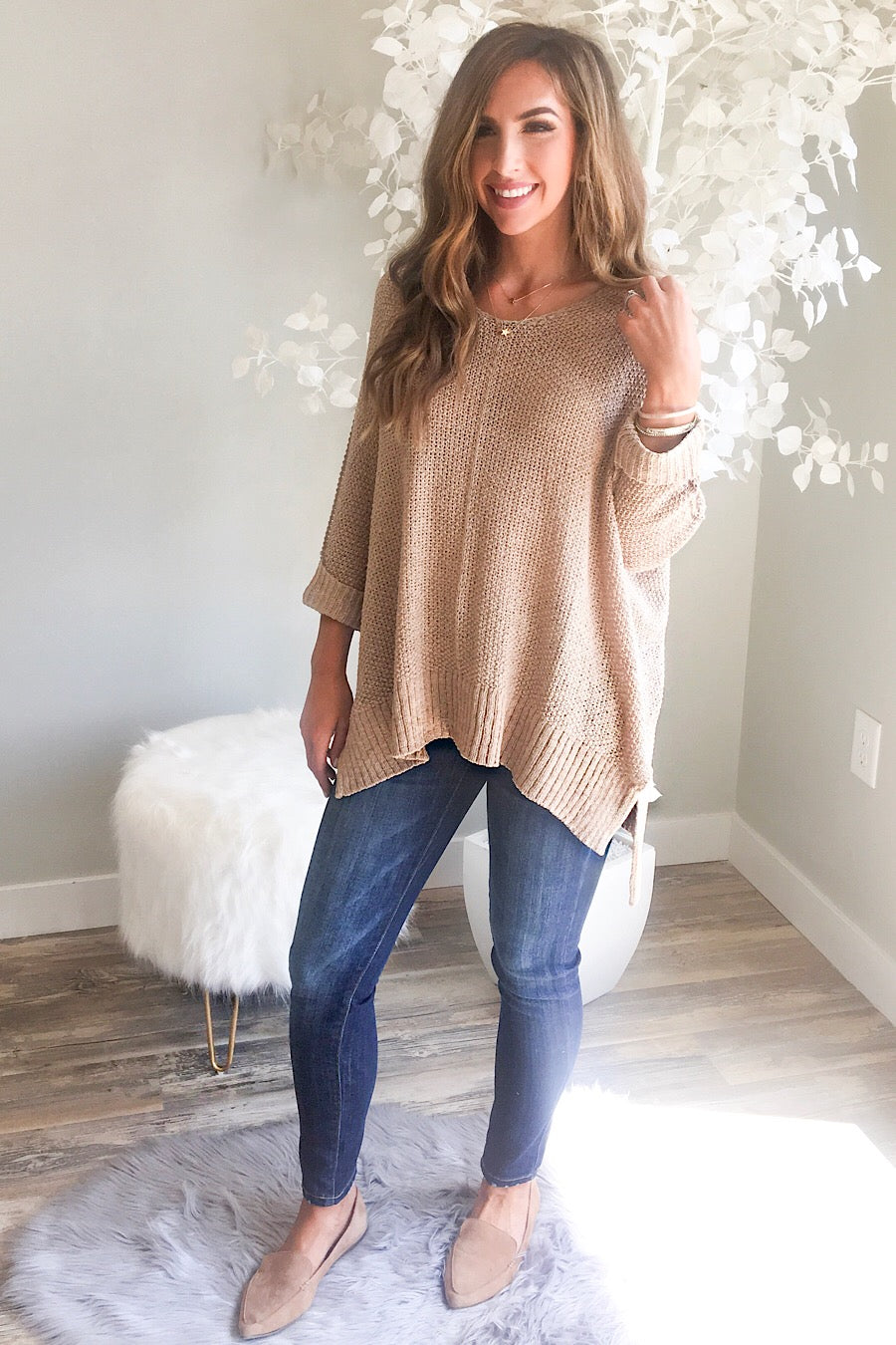 HiLo Sweater in Taupe