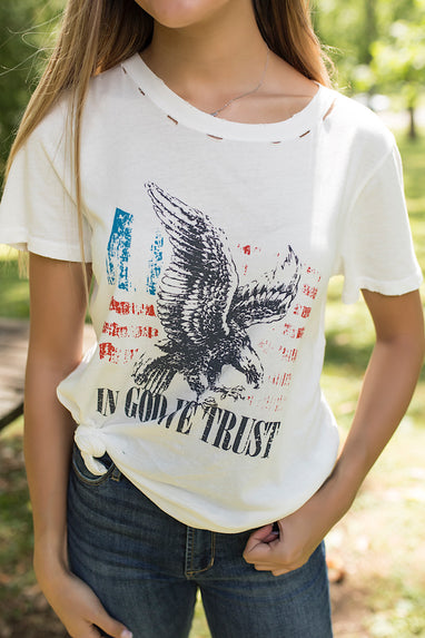 Distressed In God We Trust T-Shirt