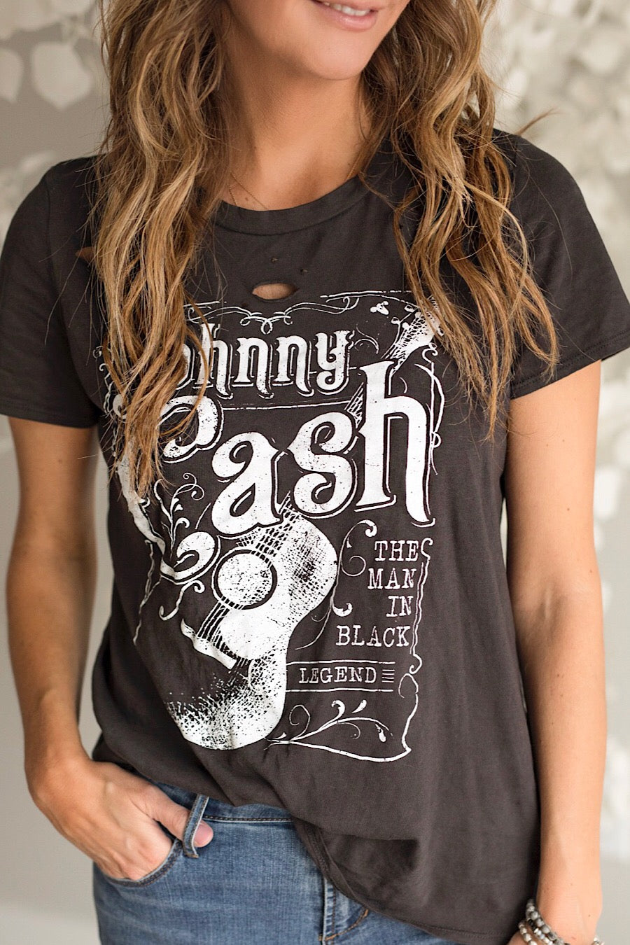 BACK IN STOCK! Johnny Cash Distressed T-Shirt