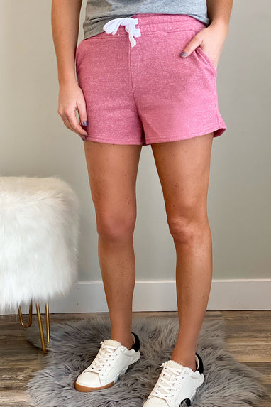 French Terry Shorts in Begonia Pink