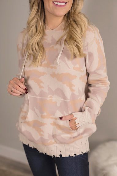 Camo Hooded Sweater