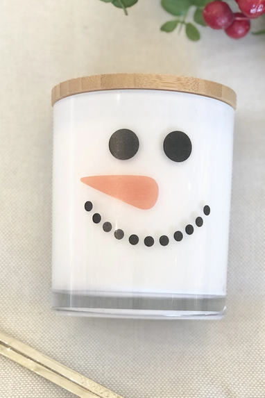 Snowman Candle in Peppermint Mocha, PSL or Christmas Hearth