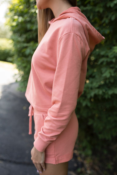 Alternative French Terry Hoodie in Coral
