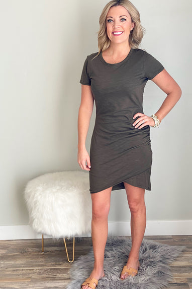 Only Yours Ruched T-Shirt Dress