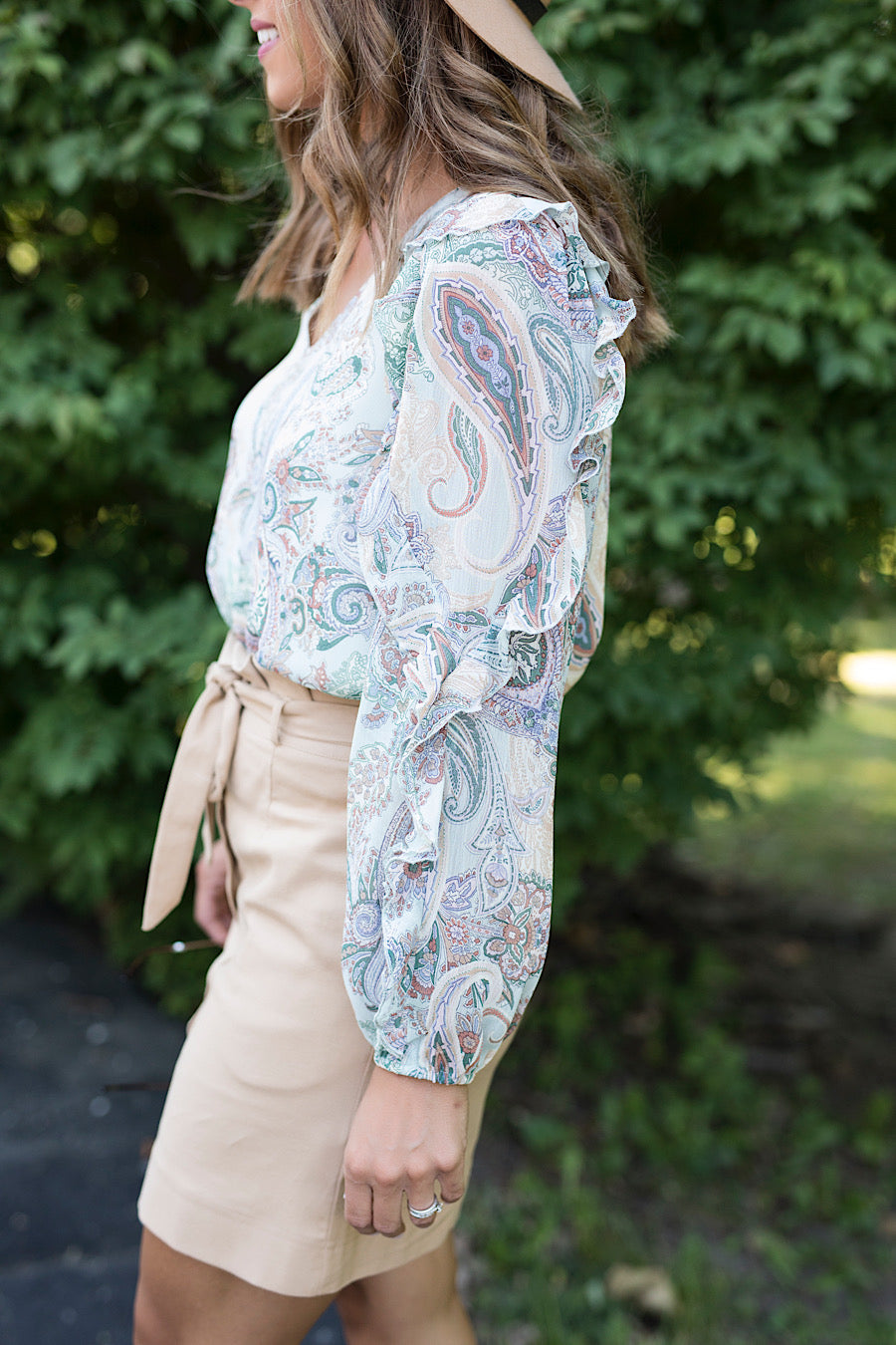 Casablanca Paisley Printed Top