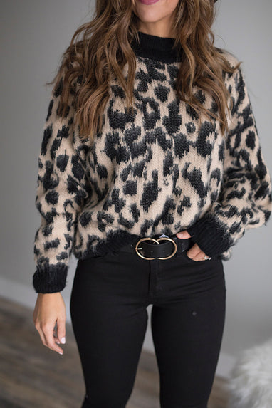 All Fur you Leopard Pullover Sweater
