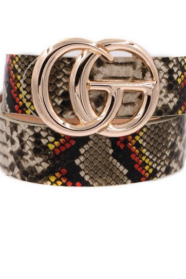 SnakePrint Belt in Multi