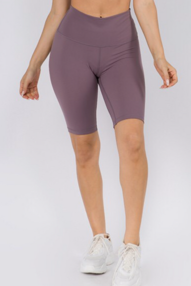 Active Biker Shorts in Smokey Mauve