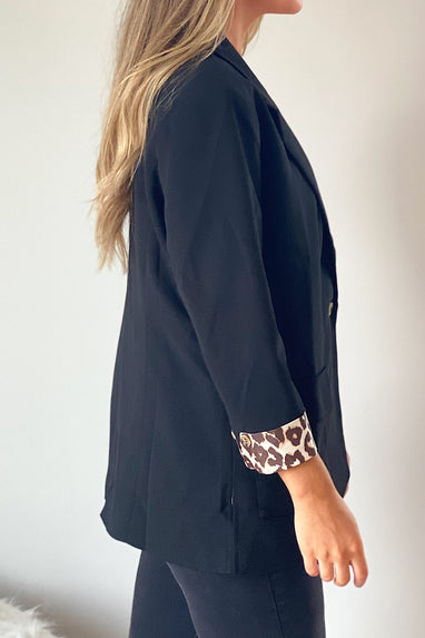 Hot Shot Blazer w/Leopard Cuffs PRESALE