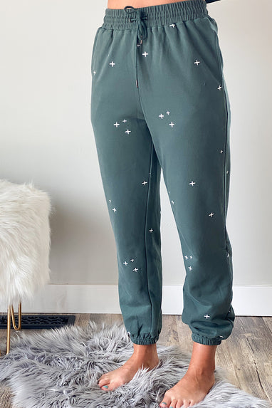 Yawn Embroidered Joggers