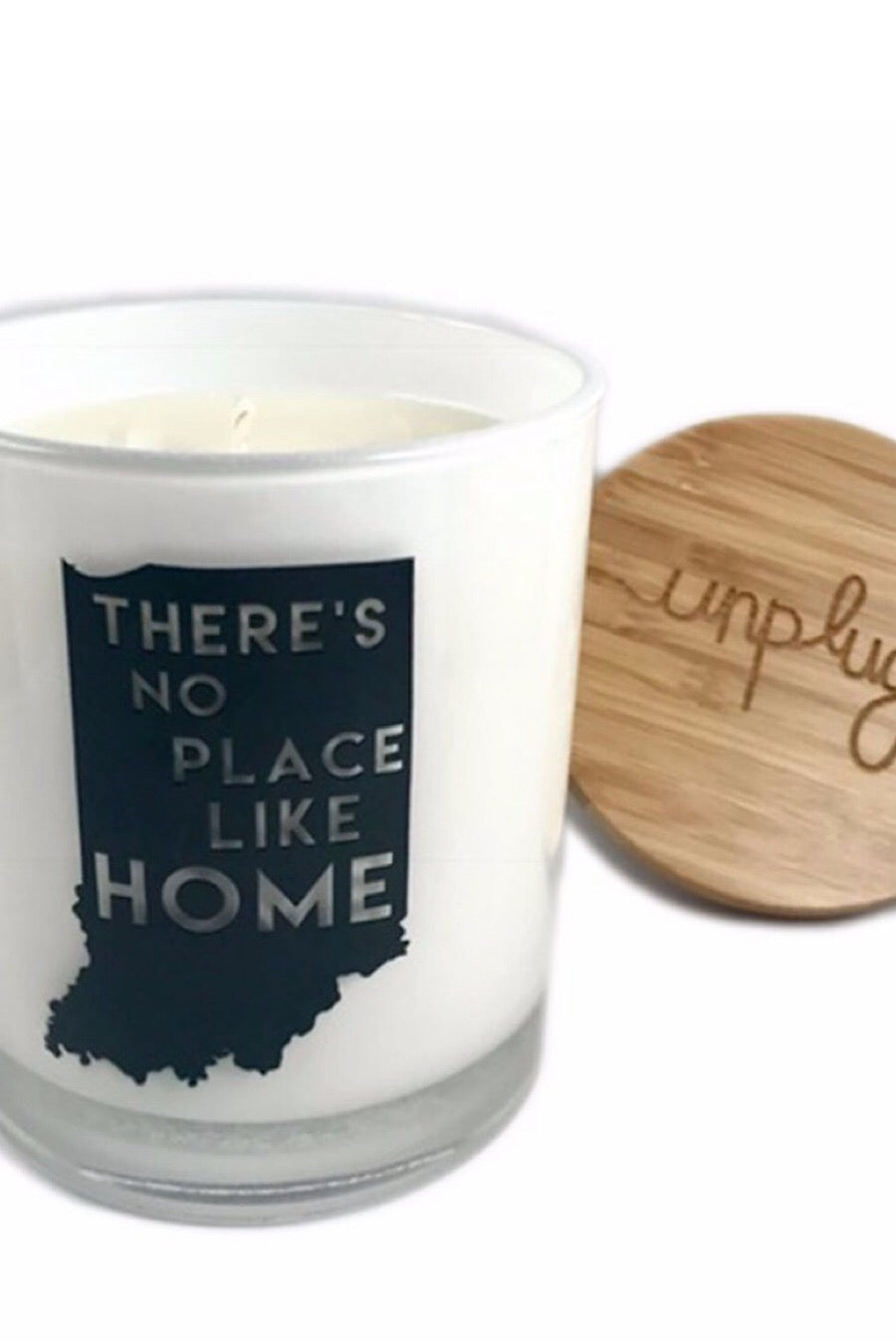 There's No Place Like Home Indiana Candle in Hazelnut Coffee or Vintage Moss