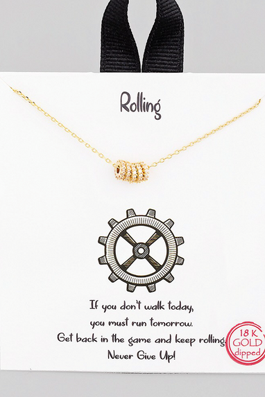 Rolling Gears Necklace