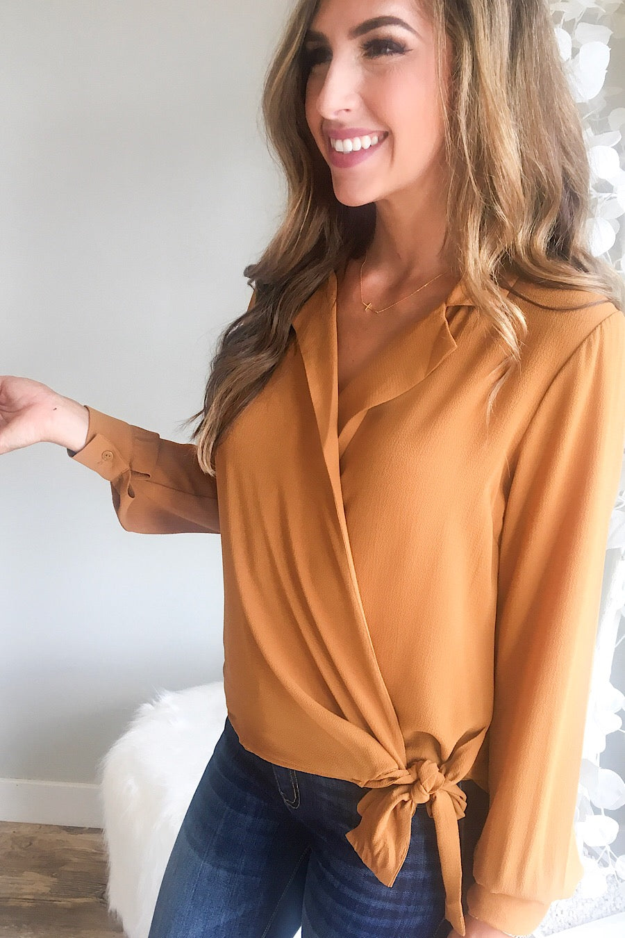Tansia Wrap Blouse